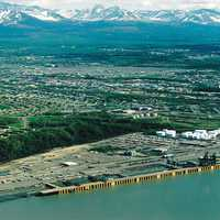 Port of Anchorage Aerial View in Alaska