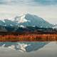 Landscape and reflection of Denali in Denali National Park, Alaska