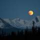 Moon over the Mountains at Denali National Park, Alaska
