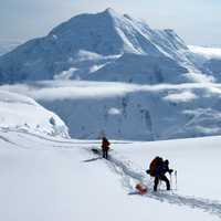 Mountaineers on Denali, Alaska