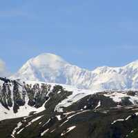 View of the Peaks of Denali, Alaska