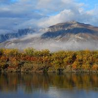 Noatak River and mountain Scenery in Gates of the Arctic National Park