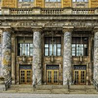 Capitol Building columns and doors in Juneau, Alaska