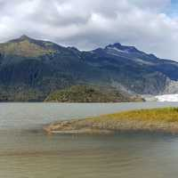 Landscape of the Glacier in Juneau, Alaska