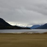 Scenic Landscape under cloudy skies in Juneau, Alaska