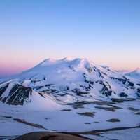 Mount Mageik Evening landscape in Katmai National Park