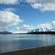 Naknek Lake Landscape under sky and clouds