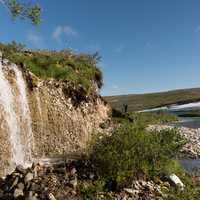 Waterfall at Katmai National Park