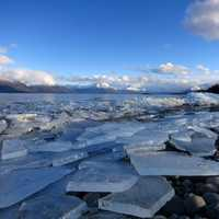 Ice Breakup on Lake Clark in Alaska