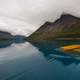 Paddling on Upper Twin Lake in Lake Clark National Park