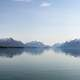 Panorama of Lake Clark Landscape in Alaska