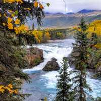 Tanalian Falls Landscape at Lake Clark National Park, Alaska