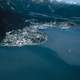 Aerial view of Seward, Alaska Bay