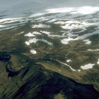 Aerial view of the Point Kadin vents in Unalaska, Alaska