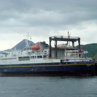 Ferryboat M/V Tustamena around Kodiak, Alaska