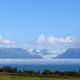 Fog bank over Kachemak Bay in Homer, Alaska