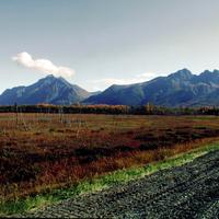 Landscape with Hills and mountains in Palmer, Alaska
