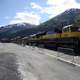 Northbound Alaska Railroad around Seward, Alaska