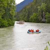 People Going down the River in Alaska
