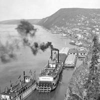 Riverboats on the Yukon River in Ruby, Alaska