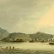 Russian sloop of war Neva visits Kodiak, Alaska in 1805