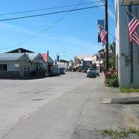 Wrangell downtown streets in Alaska