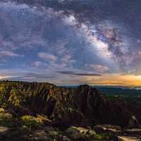 Milky Way over the Mogollon Rim in Coconino National Forest