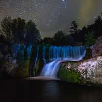 Night sky over the old Fossil Creek diversion dam