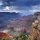 Landscape and rain clouds at Grand Canyon National Park, Arizona