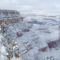 Winter and Snow in Grand Canyon National Park, Arizona
