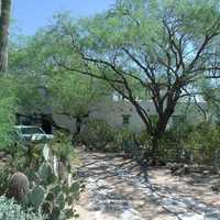 Edward L. Jones House walkway in Paradise Valley, Arizona