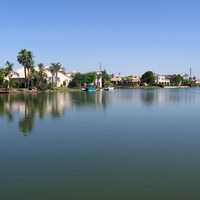 Waterfront in the Val Vista Lakes Community in Gilbert in Arizona