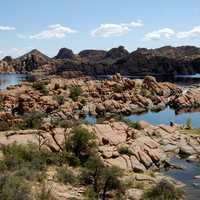 Watson Lake and Rocks in Arizona