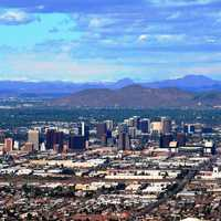Northern Skyline in Downtown Phoenix, Arizona