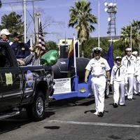 Sailors in the St. Patrick's Day Parade in Tucson, Arizona