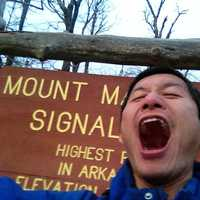 Roaring at the top of Mount Magazine, Arkansas
