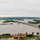 Floodwaters of the Mississippi in Arkansas and Tennessee