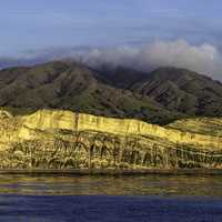 Rugged shoreline landscape of Santa Cruz Island in Channel Islands National Park, California