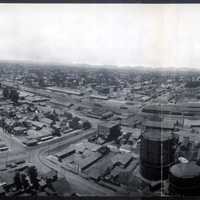 Panoramic of Fresno from high up in California