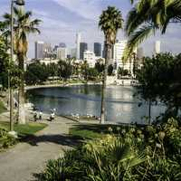 MacArthur Park in Los Angeles, California