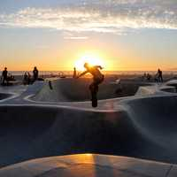 Skate Park by the Ocean in Los Angeles, California
