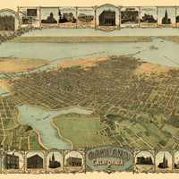 1900 Map and Oakland, California