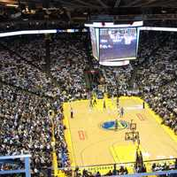 Oracle Arena Basketball, Golden State Warriors Stadium in Oakland, California