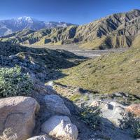 HDR Scenic of the landscape of the Pacific Crest Trail in California
