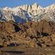 Alabama Hills landscape in California
