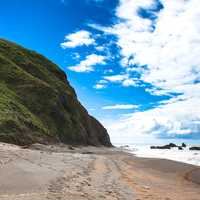 King Range beach landscape with sky