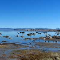 Mono Lake at Sierra Nevada landscape
