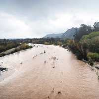 Santa Clara River Conservancy during flood