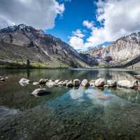 Scenic Lake landscape of Convict Lake