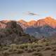 Scenic landscape of the Alabama Hills in California